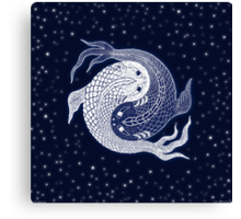 yin yang in space! Canvas Print