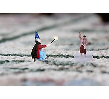 The hat, cape and wand do not make you a magician Thomas, and you have NOT discovered Instagram! Photographic Print