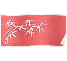 Red bamboo Poster