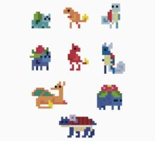 Mini Pixel Kanto Starters - Set of 9 by pixelatedcowboy