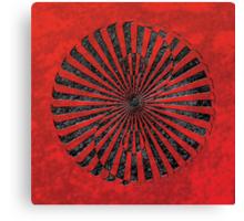 yin yang in stone (zahyíng) Canvas Print