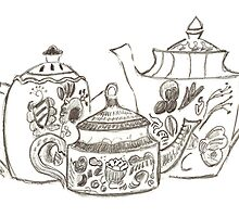 Three Teapots by Jay Reed