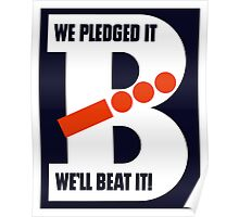 We Pledged It We'll Beat It -- WWII Poster