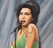 Amy Winehouse by barryjdavisart