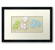 Circles of stones Framed Print