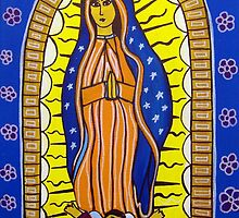 Our Lady of Guadalupe - Mexican Folk Art by AVApostle