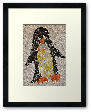 Spirograph Penguin with Filter by RachelEDesigns