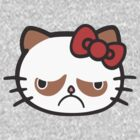 Hellno Kitty (Hello Grumpy) by krop ★ $1.49 stickers