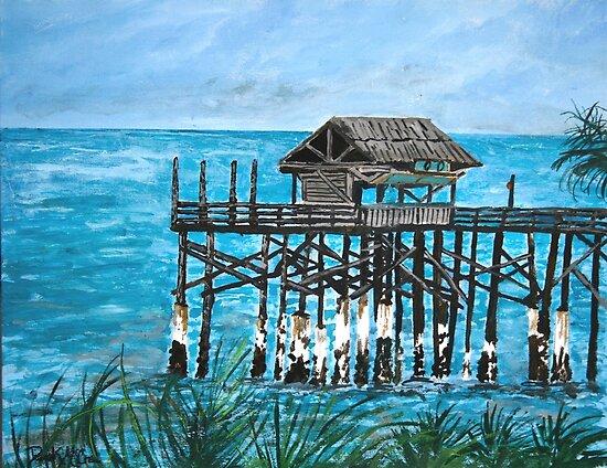 Cocoa beach ocean fishing pier by derekmccrea redbubble for Cocoa beach pier fishing