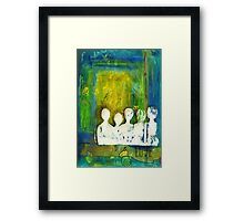 Honey... The Angels are Here Framed Print