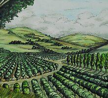 California Orange Groves by WildestArt