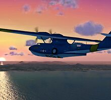 PBY Sunset Flight by Walter Colvin