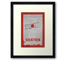 Dexter minimalist poster Framed Print