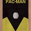 Pac-Man minimalist poster by thegDesigns