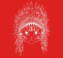 Cat with Headdress - white T-Shirt
