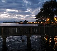 Lahaina Citylights at Sunset by aura2000