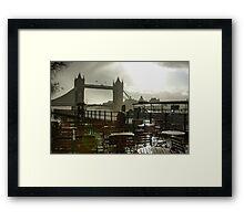 Sunny Rainstorm in London, England Framed Print