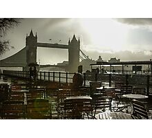 Sunny Rainstorm in London, England Photographic Print