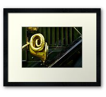 2013 Calendar - Classic Wheels - October Framed Print