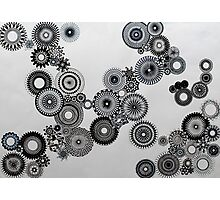 Abstract Black and white spiral fun! Photographic Print