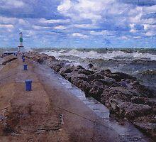 Lake Michigan Pier by perkinsdesigns