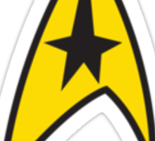Star Trek TOS Command Uniform Tee Sticker
