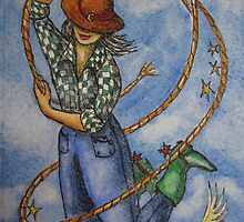 Cowgirl Series: Madonna with Red Spurs by Jeanne Vail