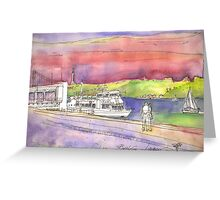 river cruises at sunset. Greeting Card