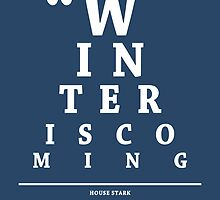 House Stark, Eye Chart by Alex Boatman