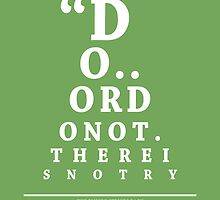 Yoda, Eye Chart by Alex Boatman