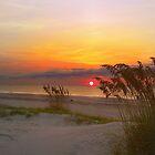 Beach Sunset No. 1 Tybee Island Georgia beach photograph by jemvistaprint