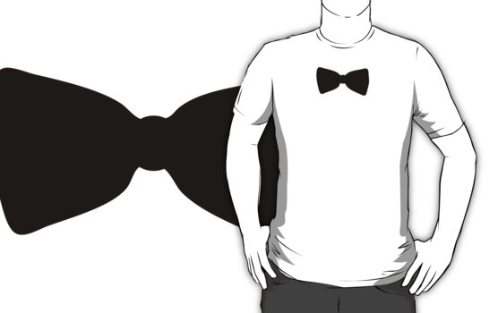 Bow Tie Tee Shirt by typeo
