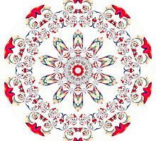 Ribbon Pattern Kaleidoscope 001 by fantasytripp