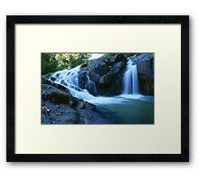 Zara Rd Falls ... Framed Print
