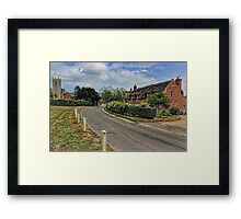 Woodbastwick village and church Framed Print