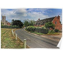 Woodbastwick village and church Poster