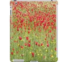 Meadow With Beautiful Bright Red Poppy Flowers iPad Case/Skin