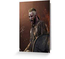 Ragnar Lothbrok digital painting Greeting Card