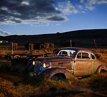 1937 Chevrolet in Bodie at Night by jeffsullivan
