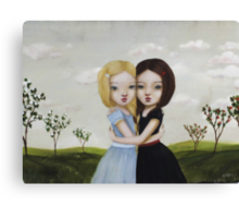Snow-White & Rose-Red 2012 by minoule Canvas Print