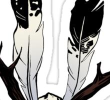 Ceremonial Jackalope Skull Sticker