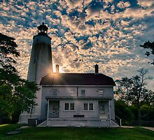 Nautical Lighthouse at Sandy Hook New Jersey by Robert Wirth