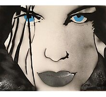 blue eyed girl Photographic Print