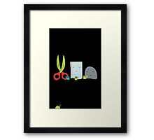 Rock Paper Scissors Framed Print