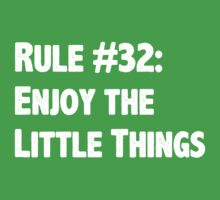 Rule #32 Enjoy the Little Things by geekery