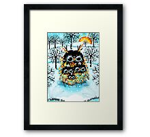 snow owls Framed Print