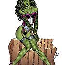 She-Hulk Tribute Art by Al Rio (R.I.P.) by alrioart