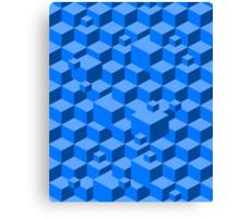 Building Blocks - Blue Canvas Print