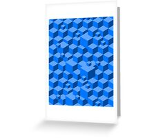 Building Blocks - Blue Greeting Card
