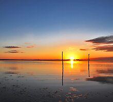 Sunrise above Lake Grevelingen by Adri  Padmos